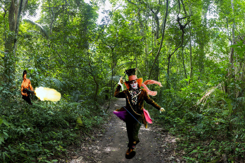 Tropical Rainforest Landscape and trail, Serere Reserve Madidi,